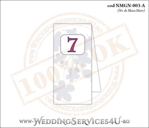NMGN-003-A Numar de Masa pentru Nunta sau Botez cu flori mov lila violet