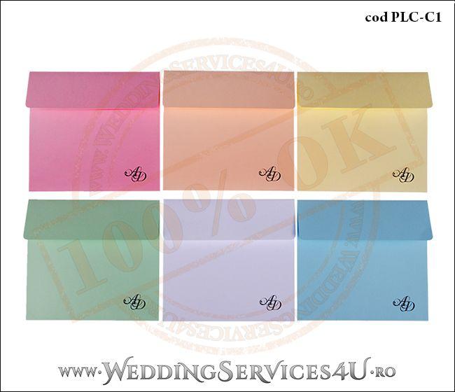 Plic Colorat Personalizat pentru Invitatie de Nunta Botez PLC-C1