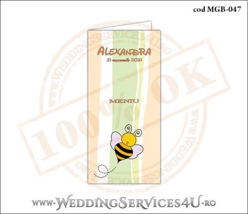 MGB-047 Meniu pentru Botez cu albinuta