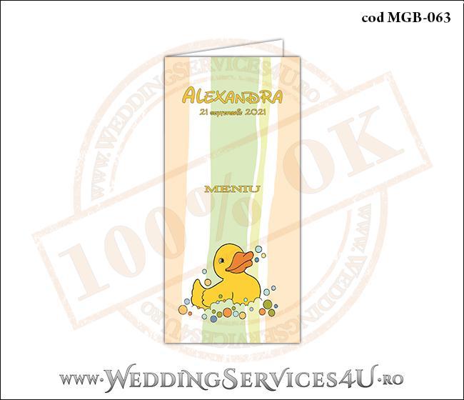 MGB-063 Meniu pentru Botez cu ratusca