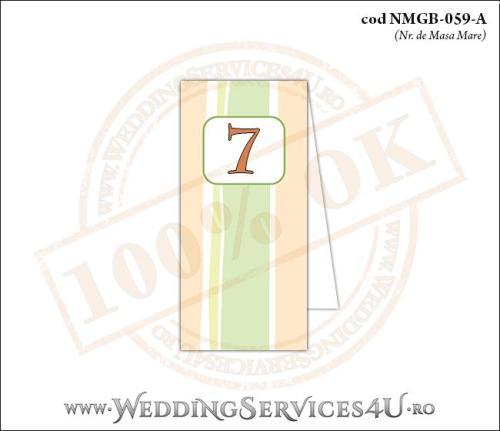 NMGB-059-A Numar de Masa pentru Botez cu dungi pastel