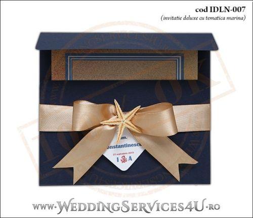 Invitatie_Deluxe_Nunta_IDLN-007-01-Tematica.Marina.cu.stea.de.mare.si.fundita