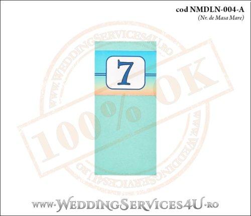 NMDLN-004-A-01 nr de masa turcoaz nunta botez cu tematica marina