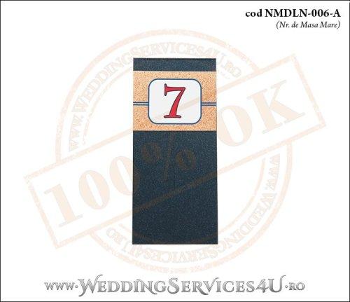 NMDLN-006-A-01 nr de masa albastru marin nunta botez cu tematica marina
