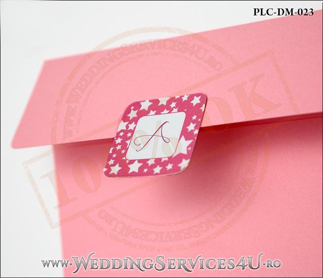 Plic Invitatie Nunta-Botez PLC-DM-023-1 Roz