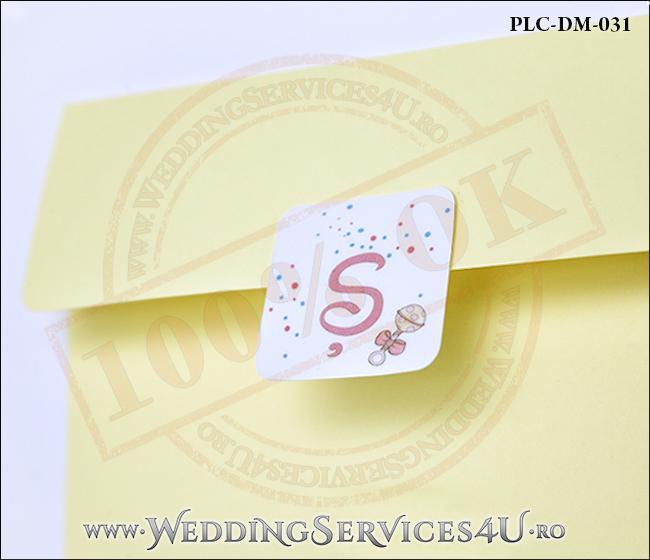 Plic Invitatie Nunta-Botez PLC-DM-031-2 Galben