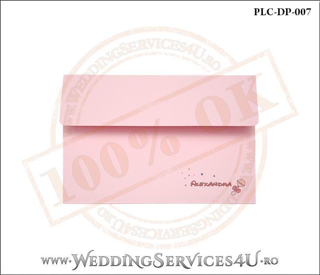 Plic Invitatie Nunta-Botez PLC-DP-007-1 Roz
