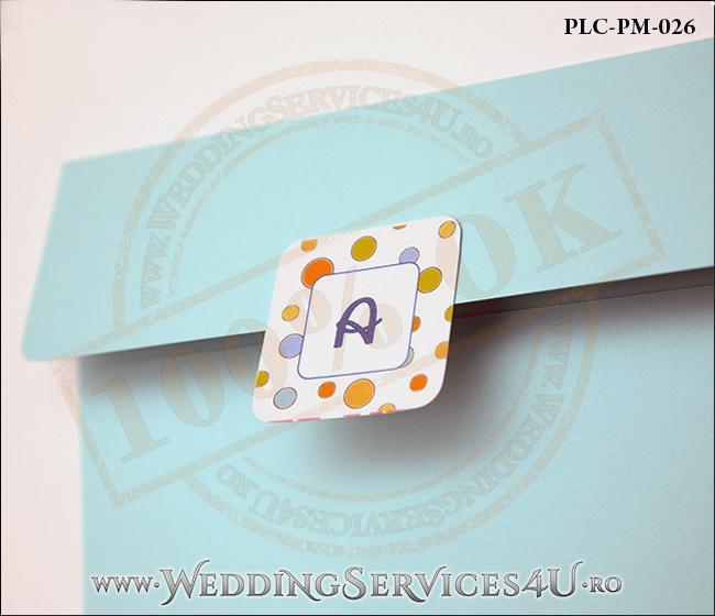 Plic Patrat Invitatie Nunta-Botez PLC-PM-026-2 Bleu