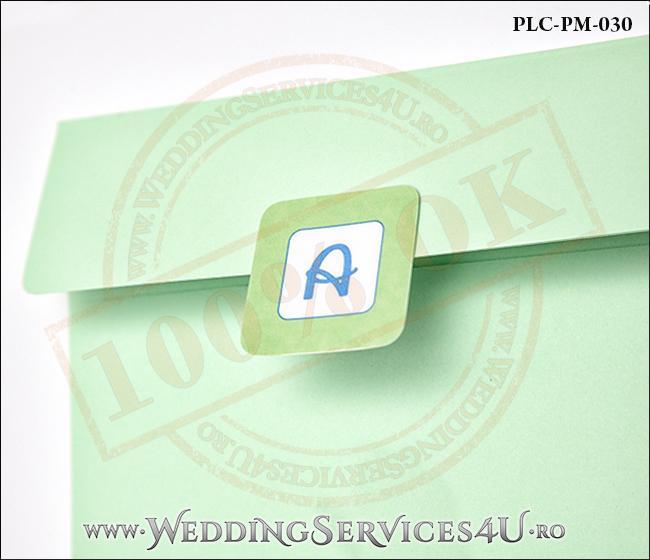 Plic Patrat Invitatie Nunta-Botez PLC-PM-030-2 Verde
