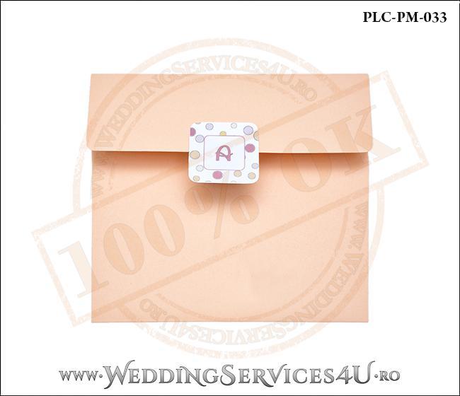 Plic Patrat Invitatie Nunta-Botez PLC-PM-033-1 Peach