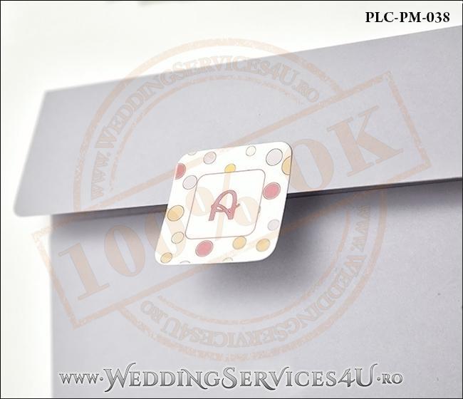Plic Patrat Invitatie Nunta-Botez PLC-PM-038-2 Lila