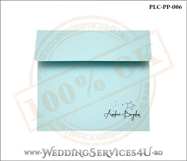 Plic Patrat Invitatie Nunta-Botez PLC-PP-006-1 Bleu
