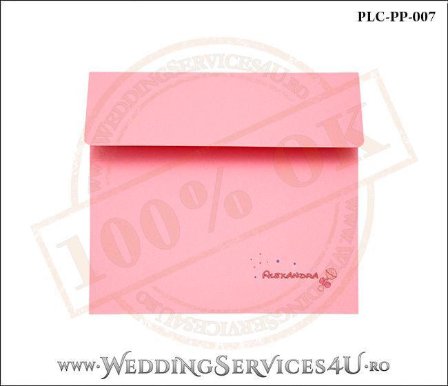 Plic Patrat Invitatie Nunta-Botez PLC-PP-007-1 Roz