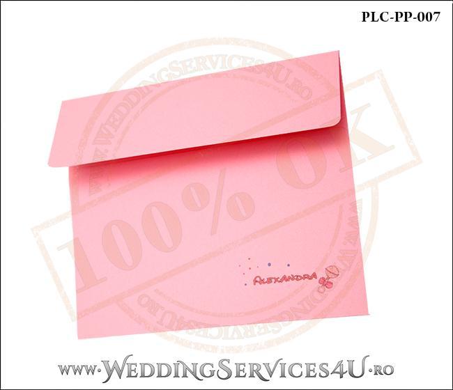 Plic Patrat Invitatie Nunta-Botez PLC-PP-007-2 Roz
