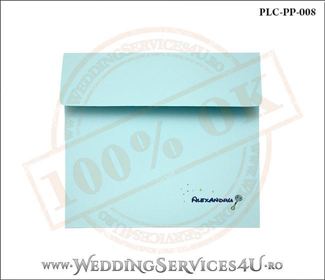 Plic Patrat Invitatie Nunta-Botez PLC-PP-008-1 Bleu