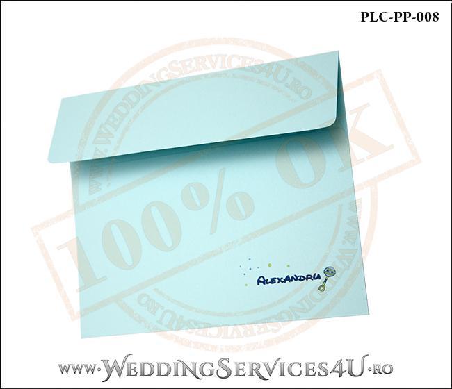 Plic Patrat Invitatie Nunta-Botez PLC-PP-008-2 Bleu