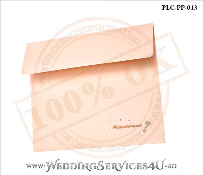 Plic Patrat Invitatie Nunta-Botez PLC-PP-013-2 Peach