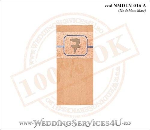 NMDLN-016-A-01 nr de masa maro crem cu nisip nunta botez cu tematica marina
