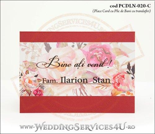 PCDLN-020-C-01_nunta_botez_clasic_cu_flori_de_trandafir_plic_de_bani_place_card