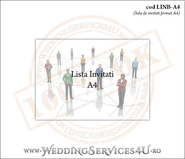 LINB-A4 Lista de Invitati pentru Nunta sau Botez