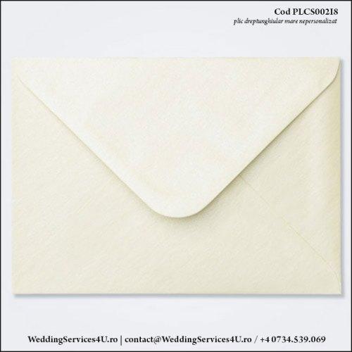 PLCS002i8 Plic Colorat AlbIvoire Sidefat pentru Invitatie Mare de Nunta Botez