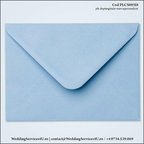 PLCS003i8 Plic Colorat Albastru Iris Pastel pentru Invitatie Mare de Nunta Botez