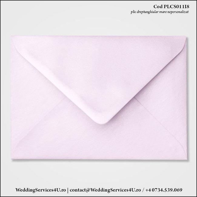PLCS011i8 Plic Colorat Lila Sidefat pentru Invitatie Mare de Nunta Botez