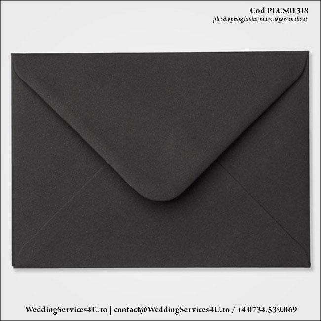 PLCS013i8 Plic Colorat Negru pentru Invitatie Mare de Nunta Botez