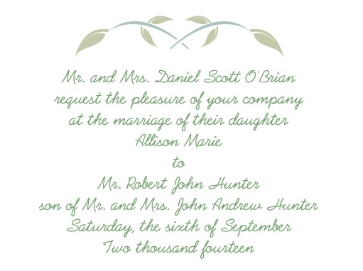 invitation names wording