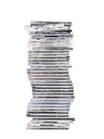 Big stack of music CDs