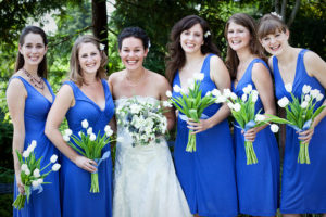 2017 Color Trends - blue bridesmaids dresses