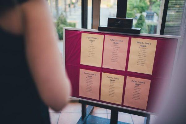Heidi & Luke - wedding reception seating chart