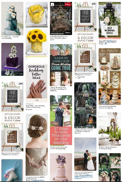Wedding Planners Love Seeing Our Bride & Grooms Pinterest Board