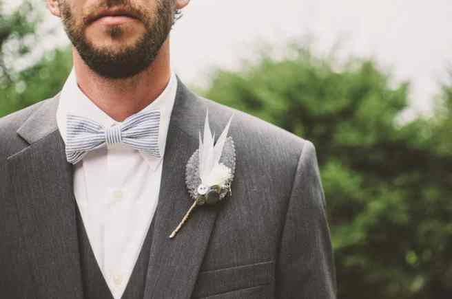 5 Tips For Getting Your Groom Ready For Your Wedding Day - man in suit with bow tie