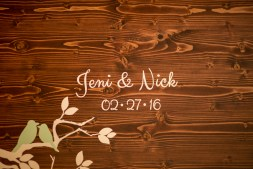 wooden wedding plaque