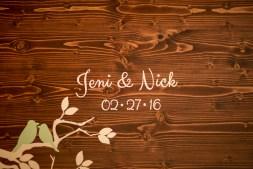 wooden wedding plaque