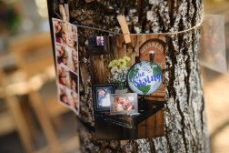 Wedding snapshots and clothespins