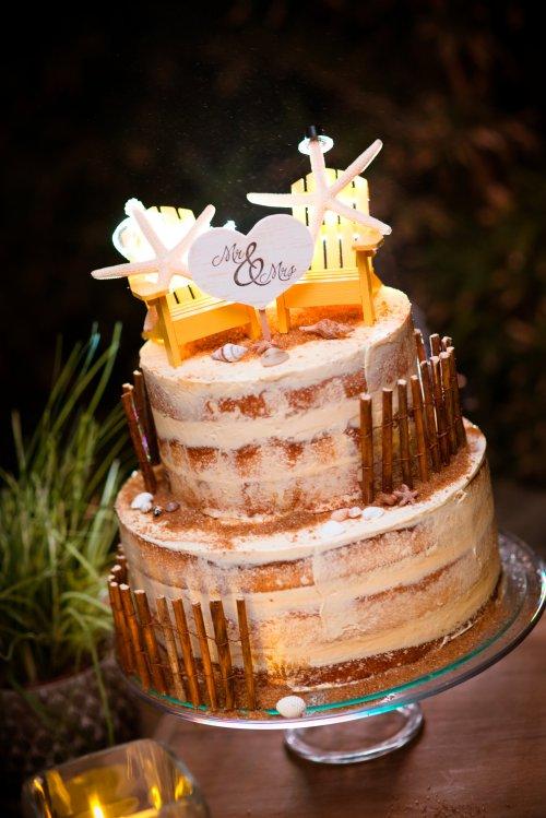 Beach Wedding Cake Costa Rica