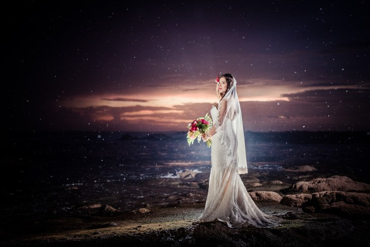 Bride-starlit-beach