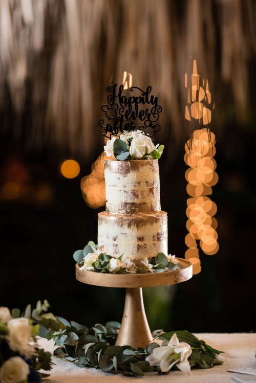 wedding-costa-rica-gold-cake