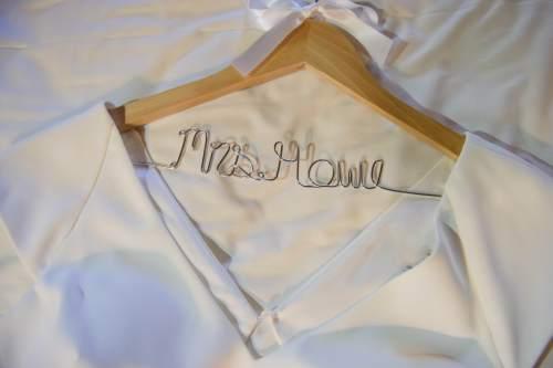 bridal dress hanger custom