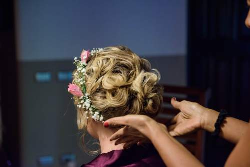 bridal hair updo weddings costa rica
