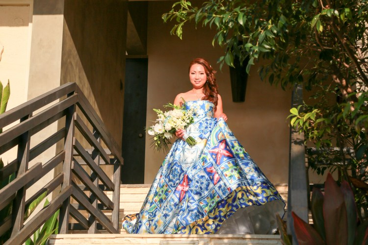 destination-wedding-bridal-walk-blue-dress