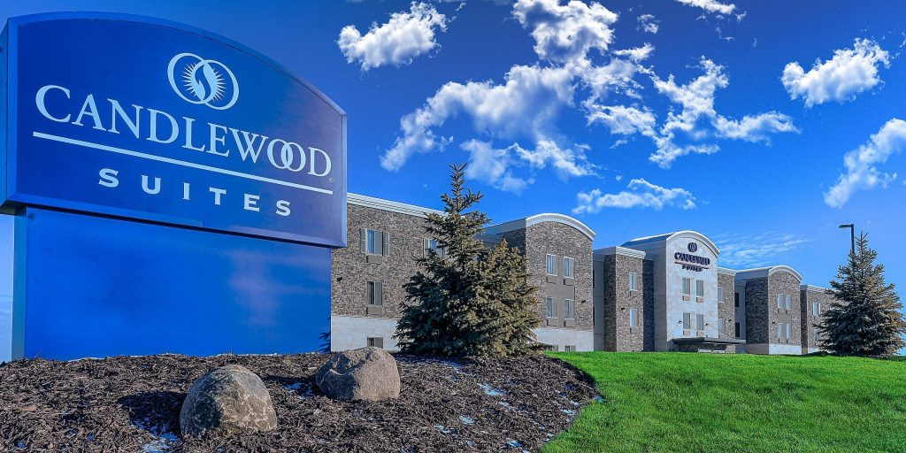 Candlewood Suites exterior at Lakeville Weddings