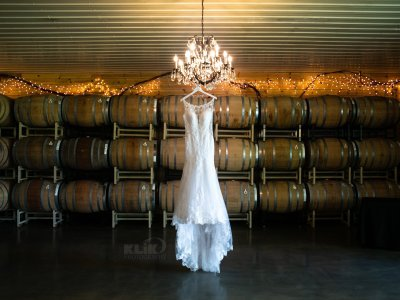 Next Chapter wedding dress and barrels