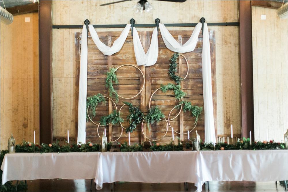simple greenery wedding decor in lubbock texas wedding