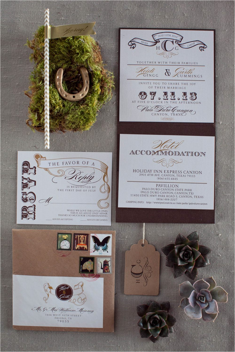 rustic chic invitation design weddings of west texas