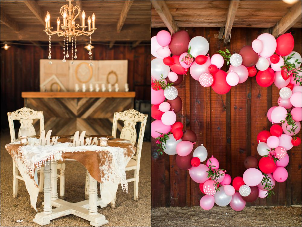 fun colorful red and pink west texas wedding