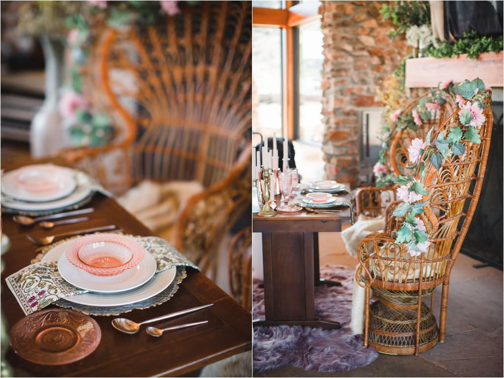 mack dick pavillion wedding reception southwestern boho wedding details