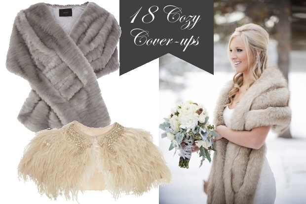 Cosy Cover Ups For Trendy Autumn/Winter Weddings
